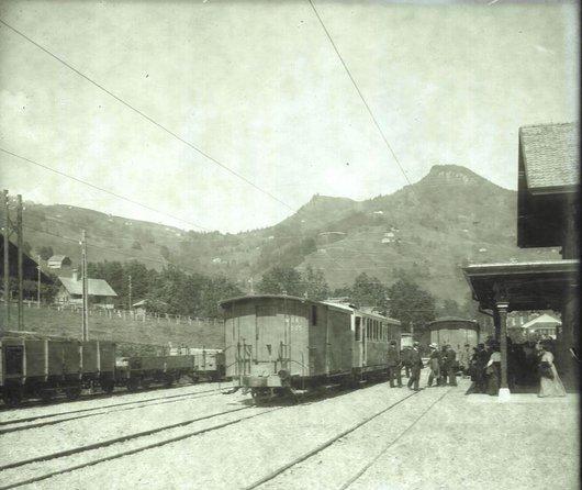 MOB Château d'Oex la gare 1904