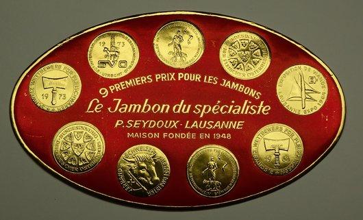 9 premiers prix pour les jambons S.Seydoux Lausanne