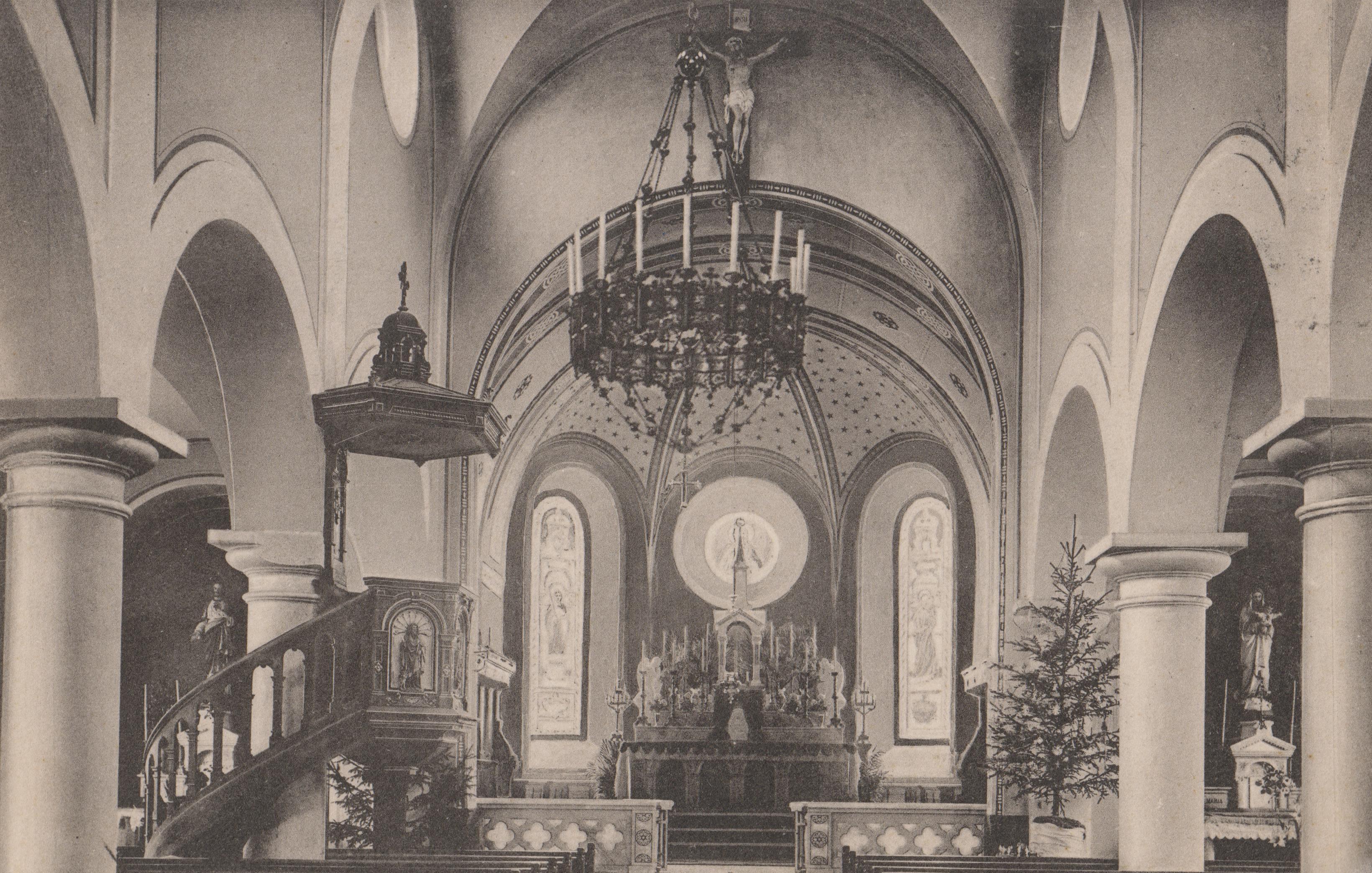 Intérieur de l'église de Granges (Valais)