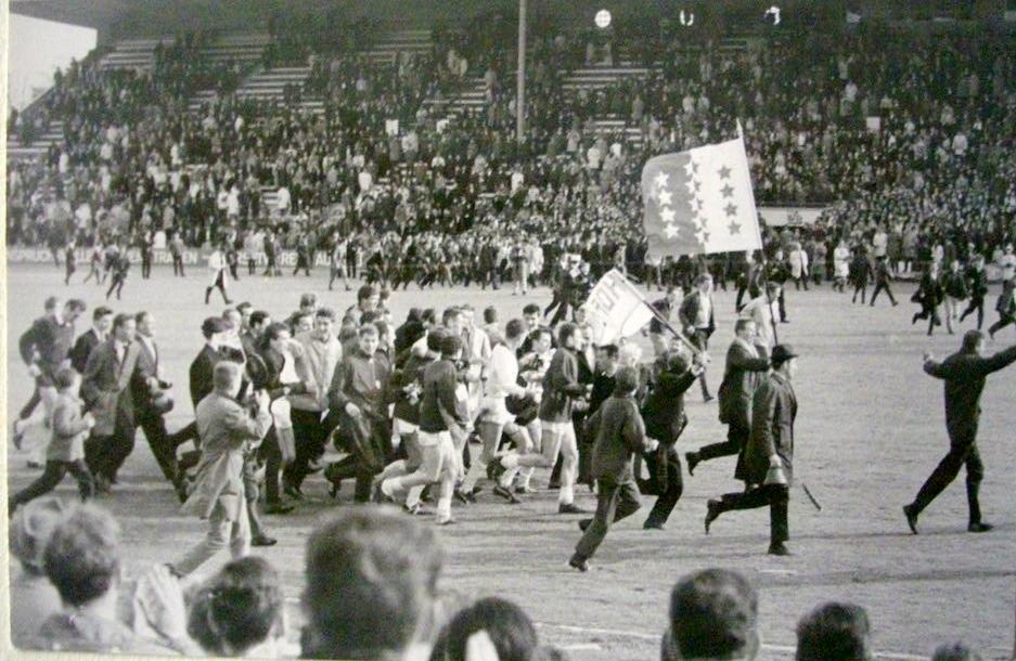 Au printemps 1965 à Berne - Sion vainqueur de la Coupe suisse contre Servette