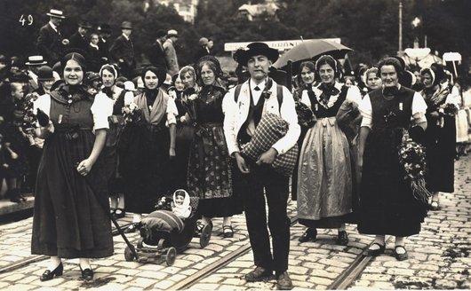 Exposition agricole Berne 1925 gens du Simmenthal