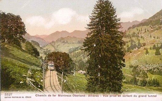 MOB les paysages de la ligne  Allières 1905