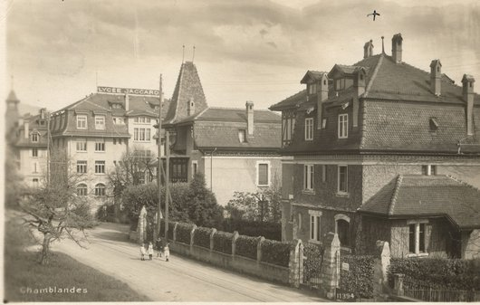 Lycée Jaccard, Pully, vers 1930