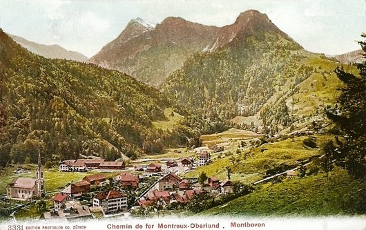 MOB les paysages de la ligne  Montbovon 1905