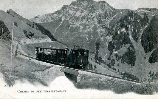Le train vers les Rochers de Naye