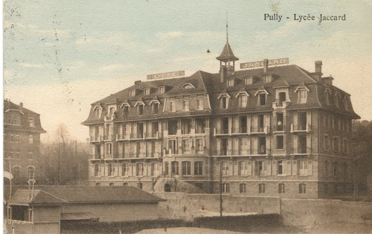 Lycée Jaccard, Pully, vers 1914