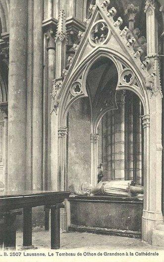 Tombeau d'Othon de Grandson a la Cathedrale de Lausanne