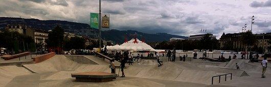 Skate et cirque Knie à Plainpalais