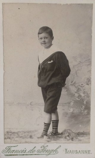 Rene Bourgeois 1893-1960 de Giez Yverdon Grandson mai 1900