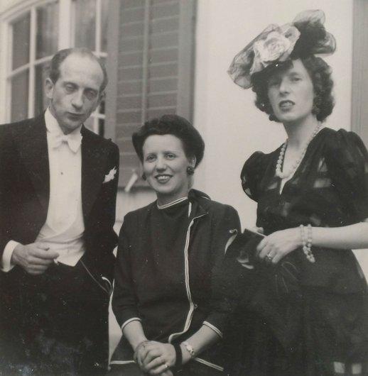Jean de Reyff Beatrice de Reyff Denise de Weck 1947