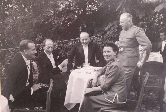 Nicolas de Weck Jean de Reyff Raoul von der Weid Henri von der Weid Beatrice de Reyff 1947
