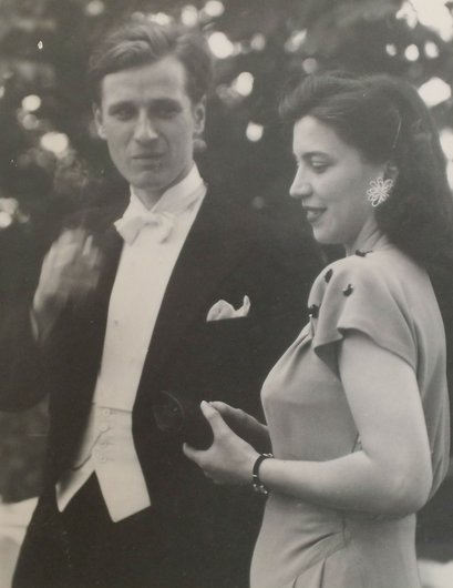 Fribourg mariage Bernard de Muller Genevieve Bourgeois 1947