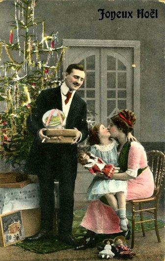 Joyeux Noël en famille d'autrefois