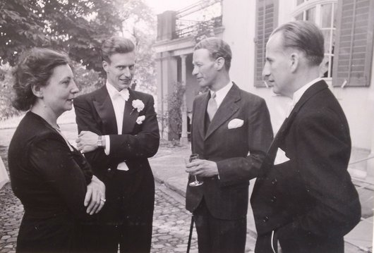Jeanne Bourgeois Bernard de Muller Jacques de Wurstemberger Nicolas de Weck 1947