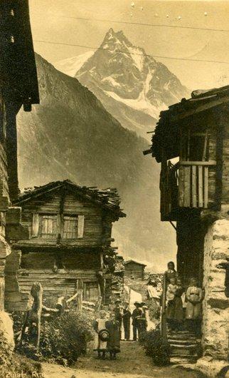 Zinal, la vieille rue