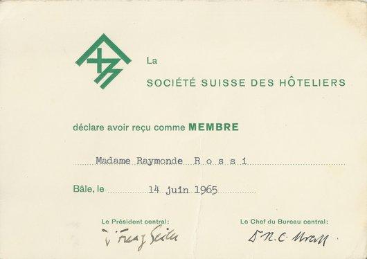 Sté Suisse des Hôteliers