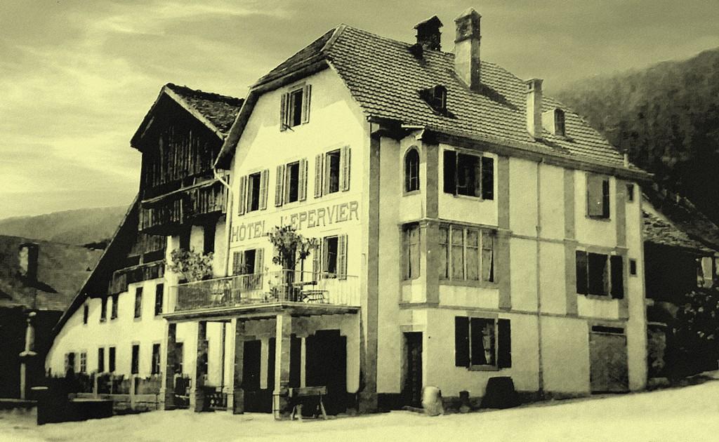 Hôtel de l'Epervier à Cernier en 1905