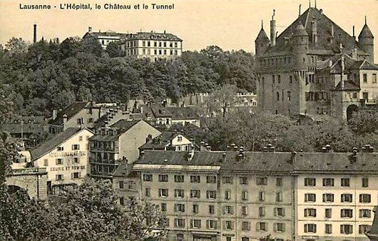 L'Hôpital cantonal, le Château et le Tunnel