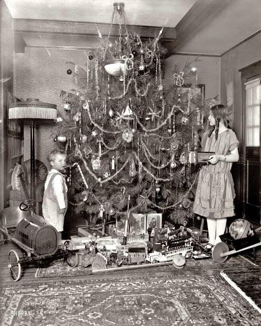 noel d antan Sapin de Noël d'autrefois   Notre Histoire noel d antan