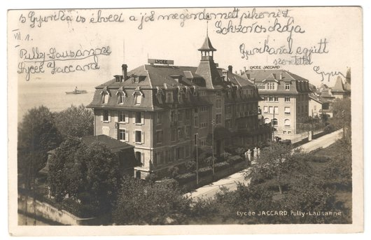 Lycée Jaccard, Pully, vers 1929