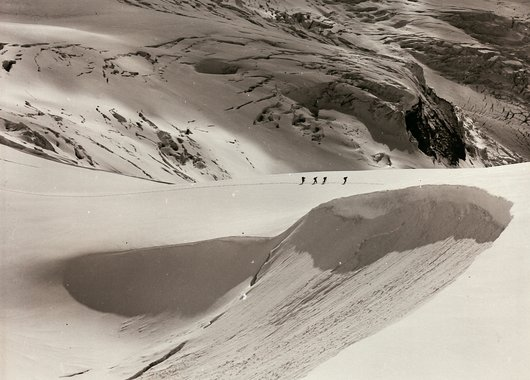 Course en haute montagne