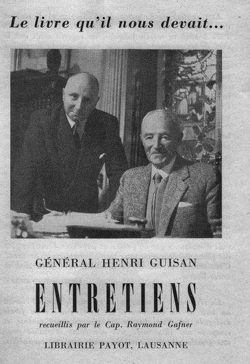 """""""Entretiens"""" avec le Général Guisan"""