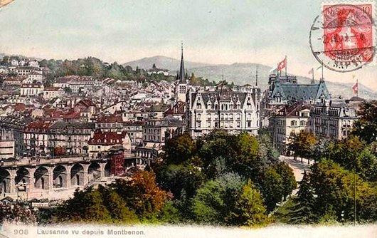 Lausanne vu depuis Montbenon