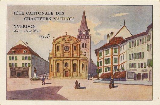 Fête cantonale des chanteurs vaudois, Yverdon mai 1925