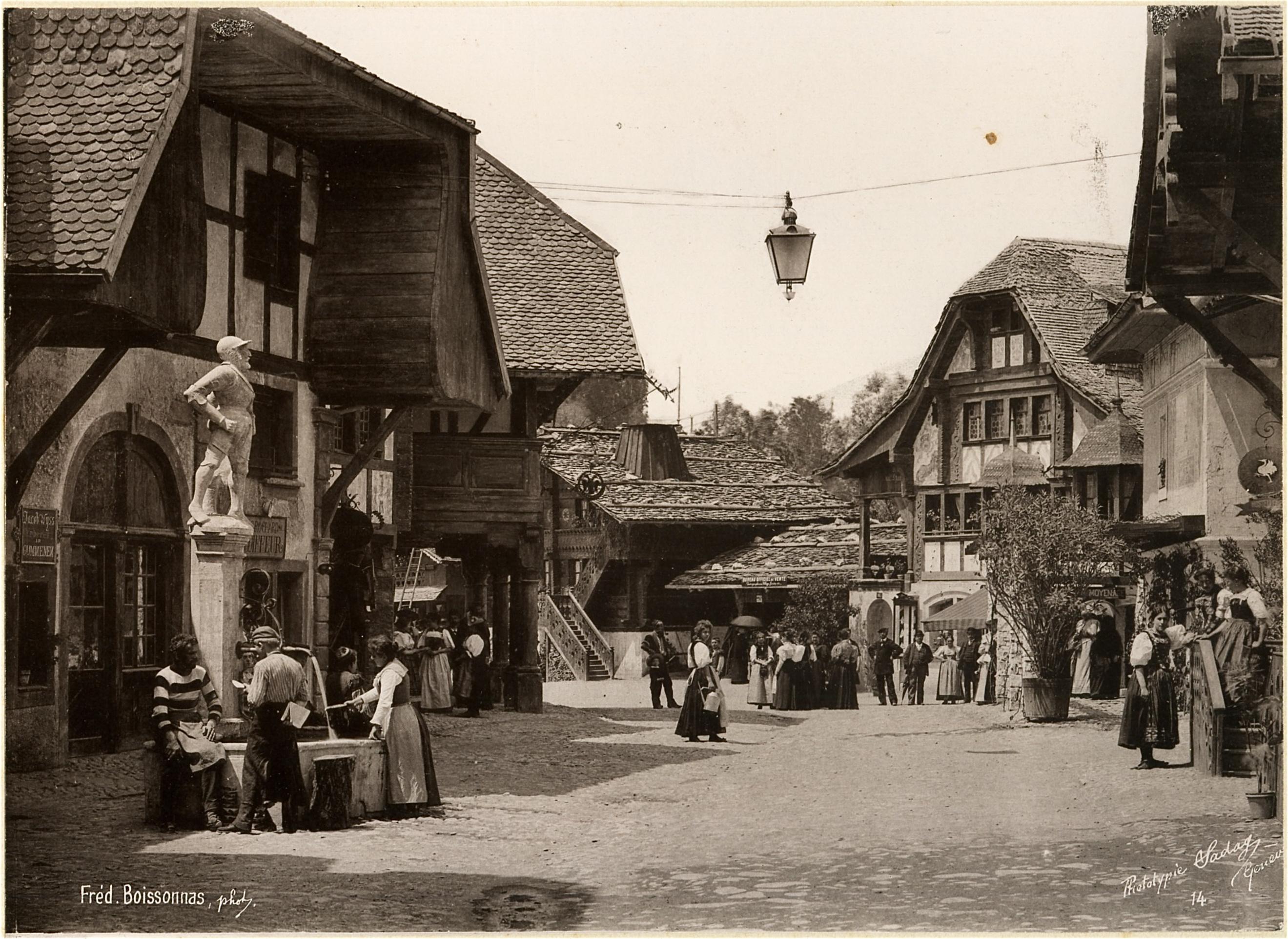 Le village suisse, une rue