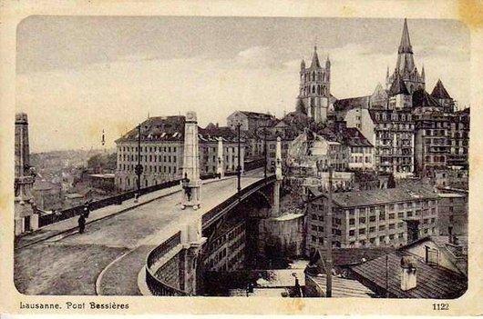 Cathédrale de Lausanne depuis le Pont Bessières