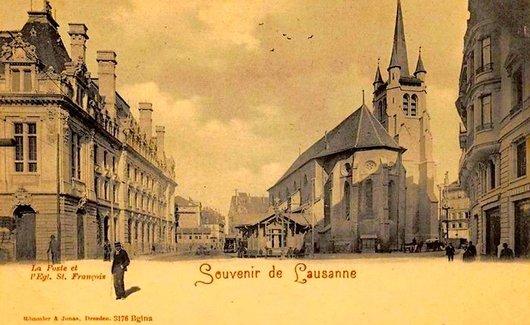 Place Saint François autrefois