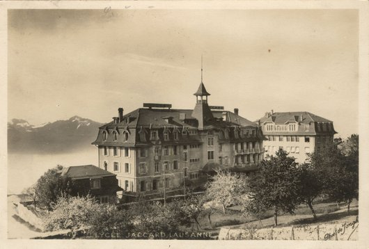 Lycée Jaccard, Pully, vers 1926