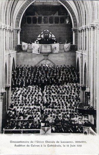 Union Chorale de Lausanne, cathédrale le 12 juin 1910