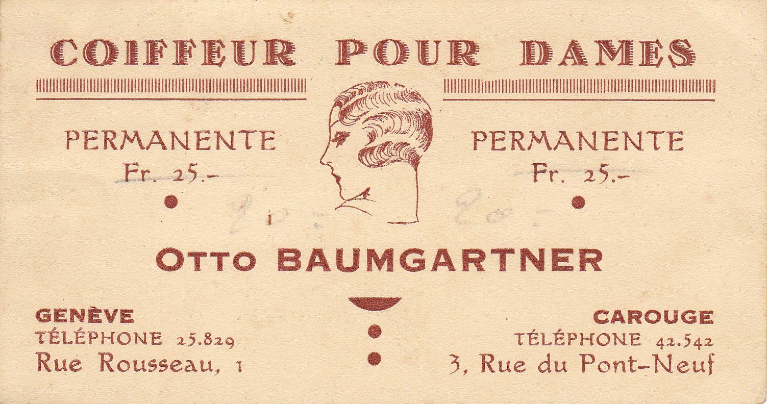 Carte De Visite Du Salon Otto Baumgartner