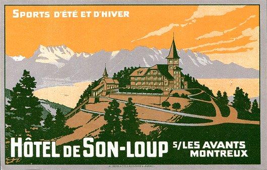 Étiquette de bagage de l'Hôtel de Sonloup Sur Les Avants Montreux