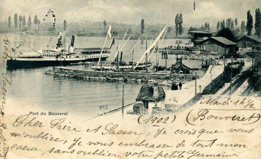 Le Bouveret, port et gare