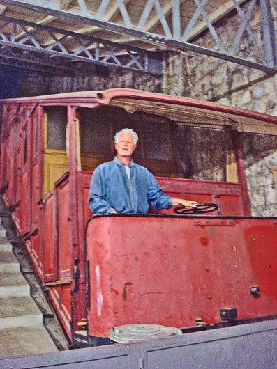 Un ancien wagon du Territet-Glion