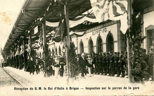 Brigue, inauguration du Simplon