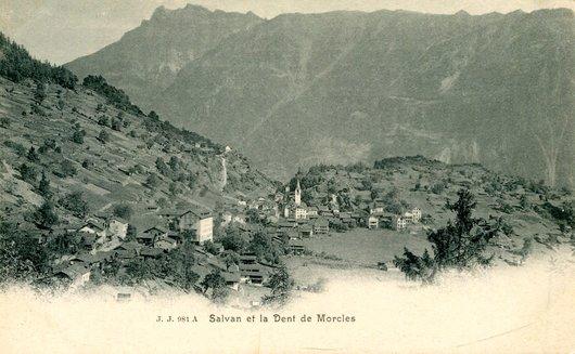 Le village de Salvan