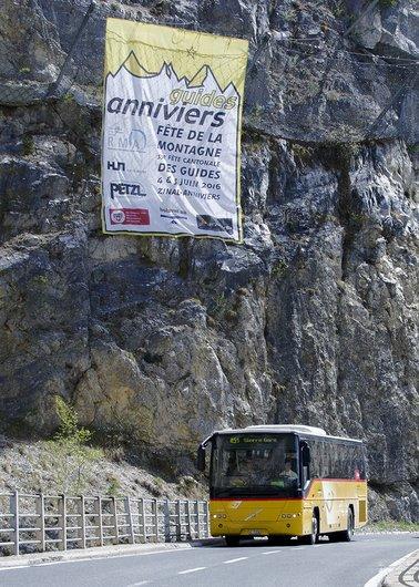 Route vers Les Pontis, Anniviers