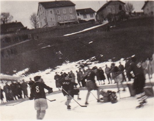 Match de hockey à l'Auberson