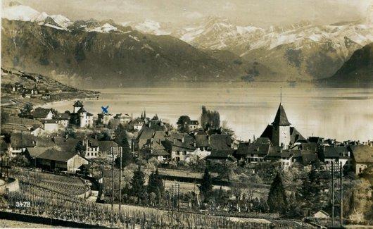 Lutry, Vue sur les Alpes vaudoises