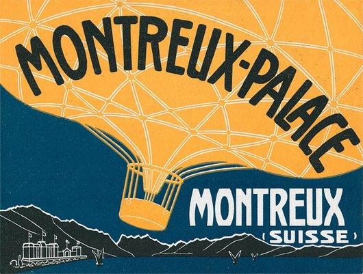 Étiquette de bagage de l'Hôtel des Montreux-Palace
