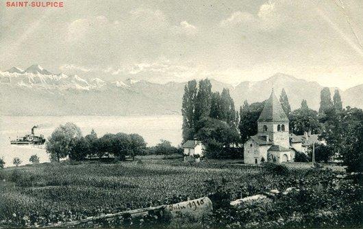 St-Sulpice, le temple hier et aujourd'hui