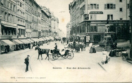 Genève, rue des Allemands