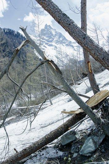 Conséquences d'une avalanche, début 2016