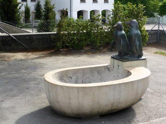 Genève, la fontaine aux pingouins