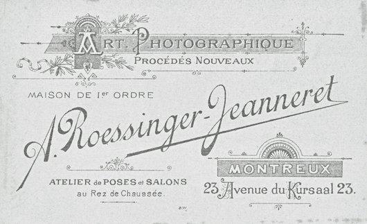 Cartouche d'Arnold Casimir Roessinger-Jeanneret, Montreux