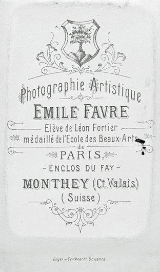 Cartouche d'Emile Favre, Monthey