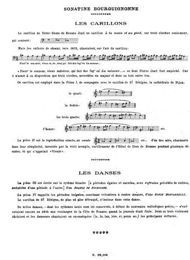 M.Emmanuel, préface partition Sonatine No 1, Op. 4